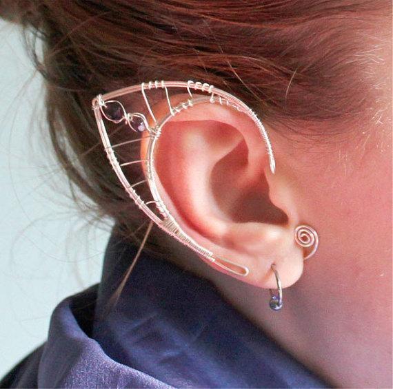 Custom silver elf ears by Belethil on Etsy