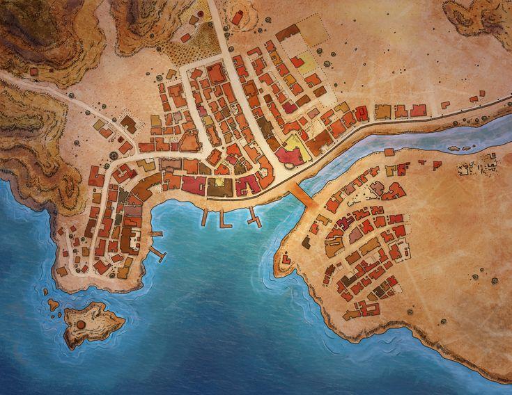 River town by Kolyana | Maps | Fantasy map, Desert map e ...