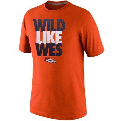 Nike Wes Welker Denver Broncos Play Maker T-Shirt - Orange