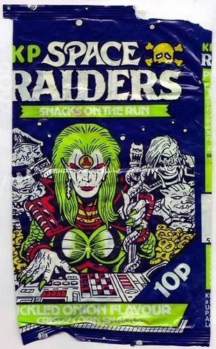 Space raiders crisps 80's