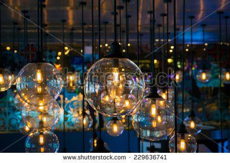 Beautiful lantern, lighting decoration for celebration night  - stock photo
