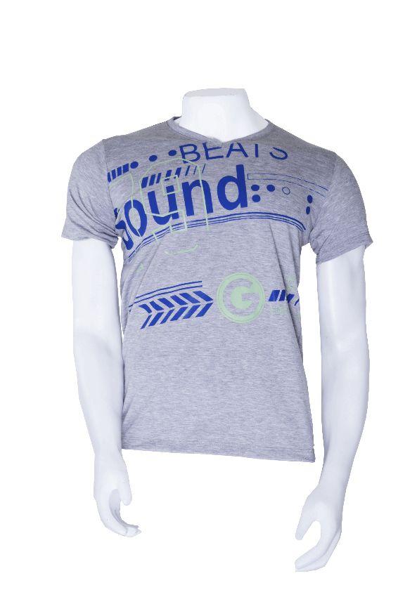 Camisa Hombre Gris Estampado Ref. GR0020