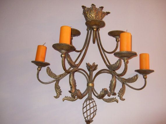 Vintage French Candle Lighting. Wall applique. by JacquelineMcEwan