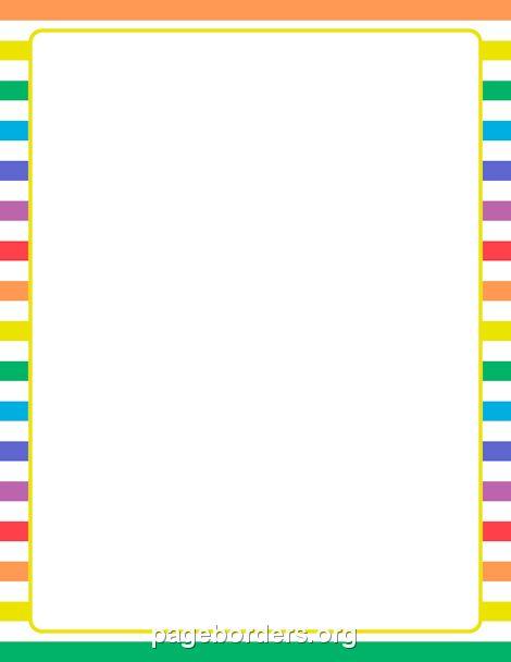 61 Awesome Stripe Border Clip Art 1st Grade Page
