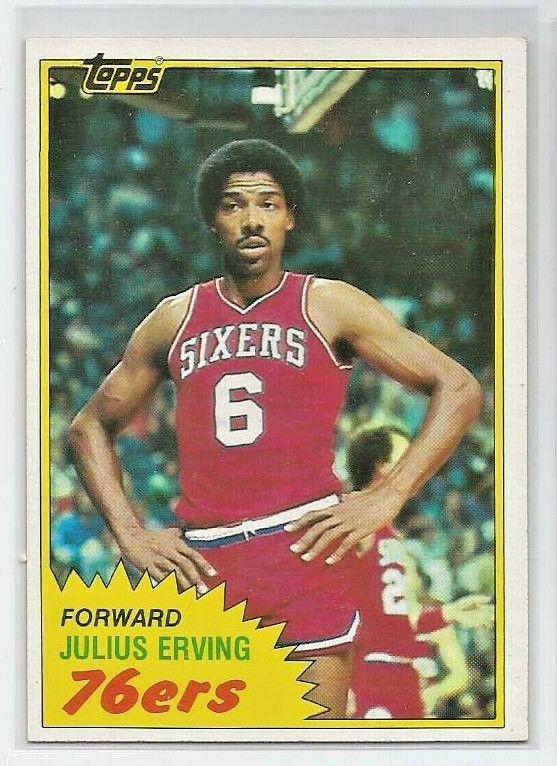 Julius Erving 1981 82 Topps 30 Basketball Card Philadelphia