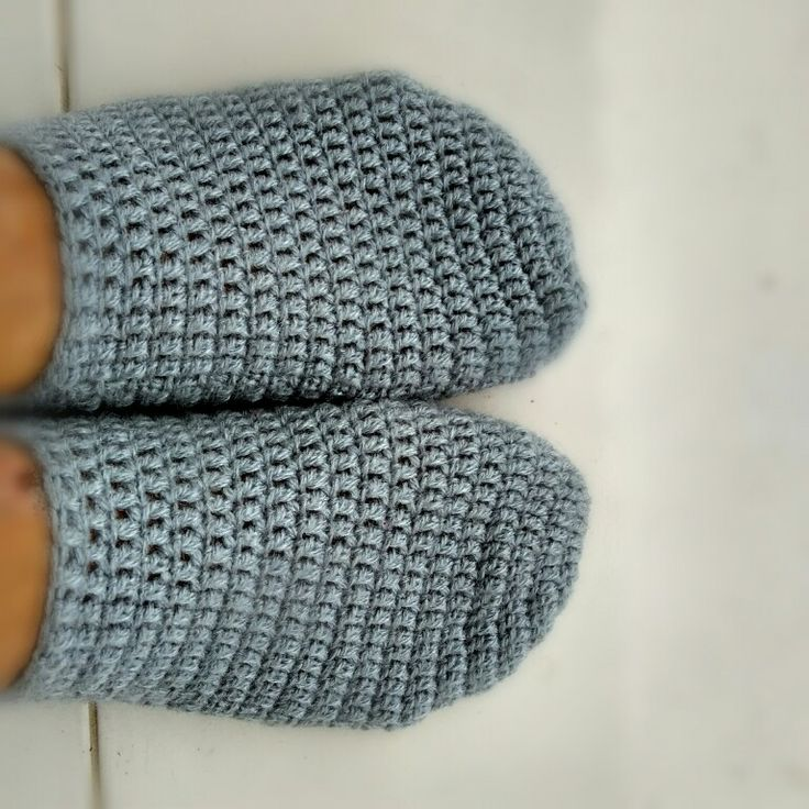 Made-in-2-days crochet slippers