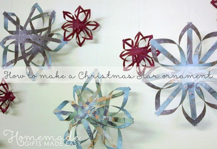 how to make a woven paper star ornament - step by step instructions