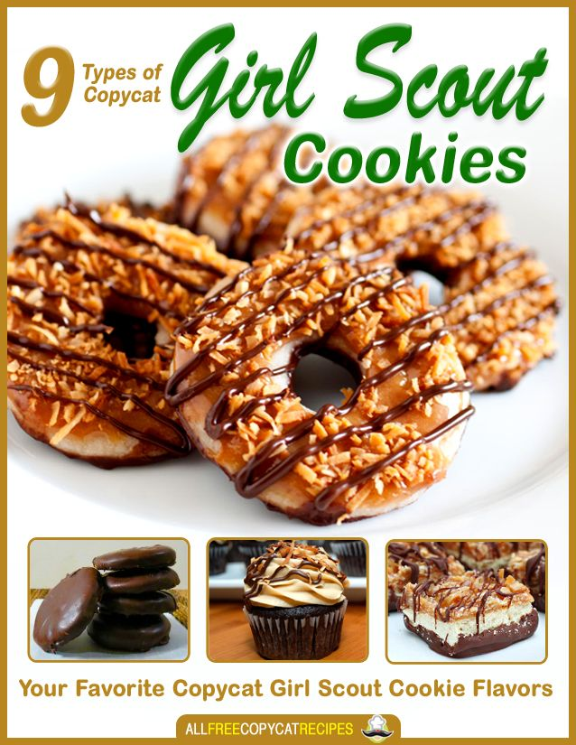 9 Types of Copycat Girl Scout Cookies: Your Favorite Copycat Girl Scout Flavors - Just Updated FREE printable eCookbook!