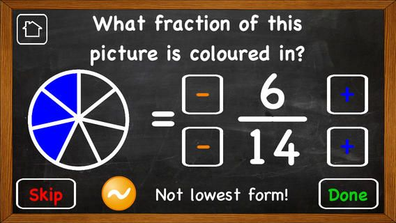 Fractions. Learn about and then practise.