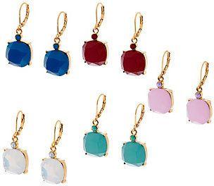 Joan Rivers Classics Collection Joan Rivers Set of 5 Simulated Opal Drop Earrings