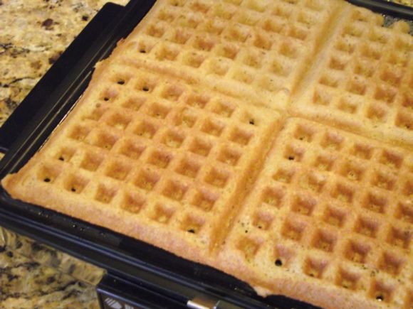 Gluten free and Paleo awesome waffle recipe! 1/2 cup melted butter or grapeseed oil (I like to do half of each) 1/4 cup coconut palm sugar or 2 Tbsps. honey 1 tsp. vanilla 4 eggs 1/2 cup almond or coconut milk 2/3 cup almond flour 1/3 cup coconut flour 1 tsp. baking soda 1/2 tsp. salt 1/2 tsp. cinnamon