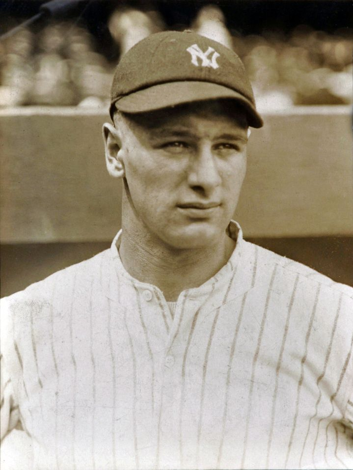 1923 Lou Gehrig during his rookie year.                                                                                                                                                                                 More