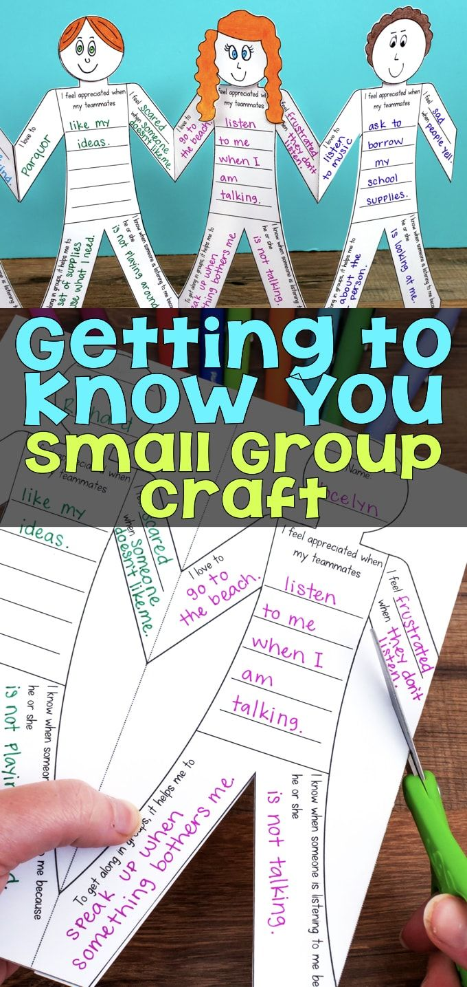 This Getting to Know You Small Group Craftivity is a fun way to help students establish themselves within small groups, table groups, or as a whole class. Cut them apart, glue on a head, and display.