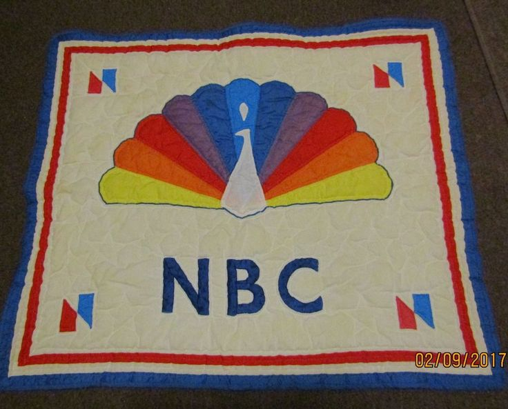 Vintage 80'S NBC Sports Handcrafted Hand Stitched Wall Hanging Quilt Peacock  | eBay
