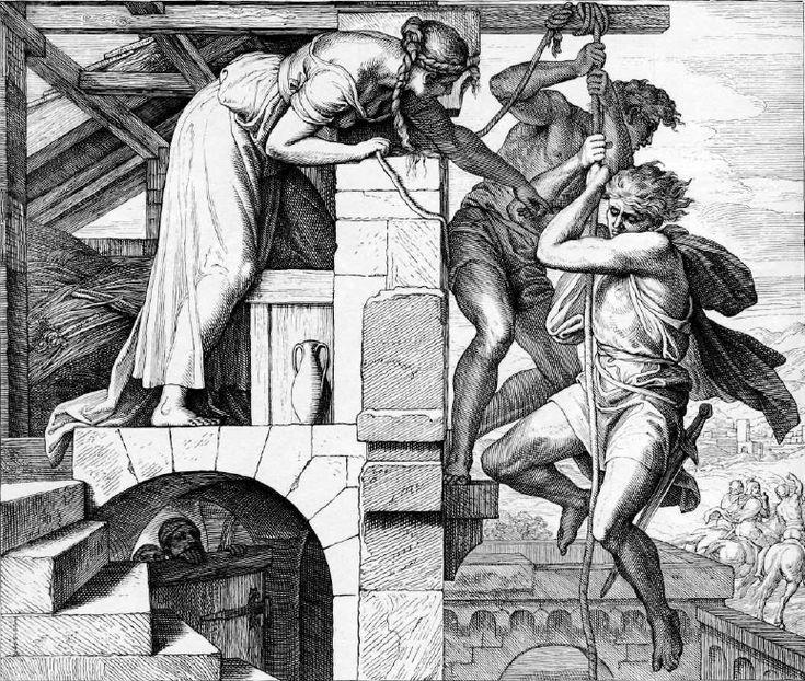 иллюстрация к библии КНИГА ИИСУСА НАВИНА глава 2 #библия #ветхийзaвет #Bible #иллюстрация #гравюра #картина #искусство #религия #христианство