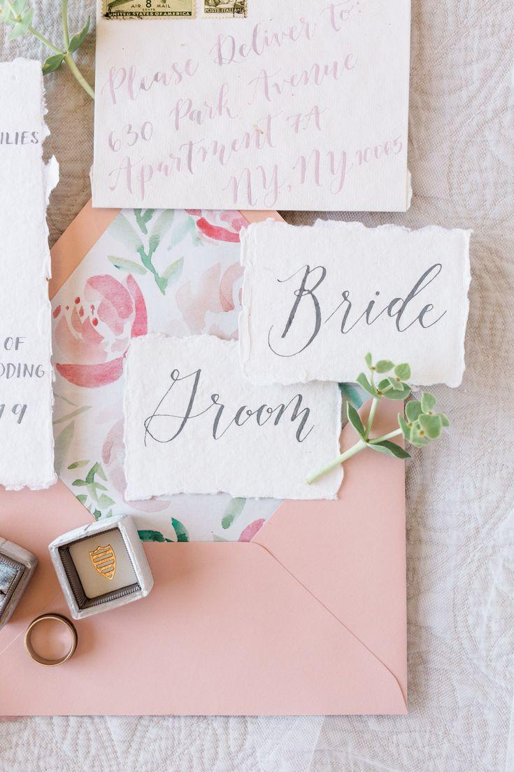 Calligraphy Wedding Invitation Suite Calligraphy wedding