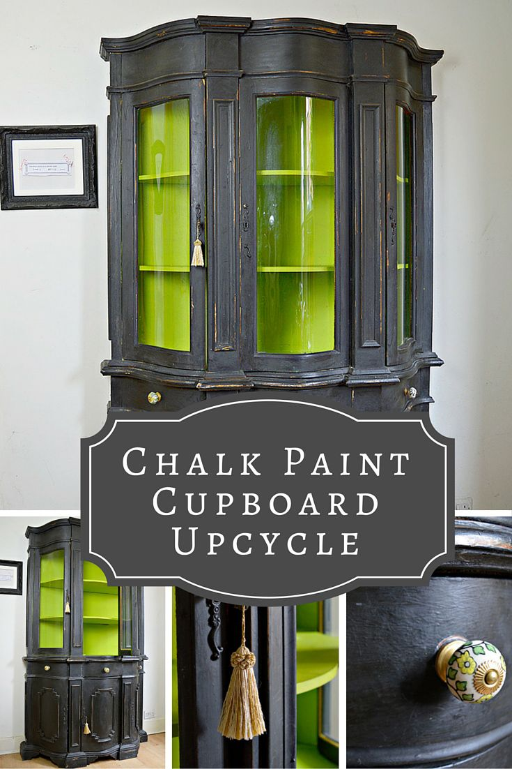 See how I transformed an ugly cupboard into something rather more classy with Chalk Paint.  I used both Annie Sloan paint and also made my own chalk paint.
