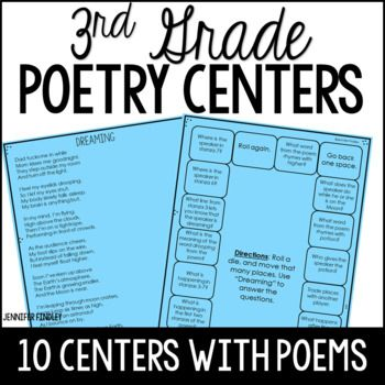 Poetry Games | 3rd Grade Poetry Reading Centers