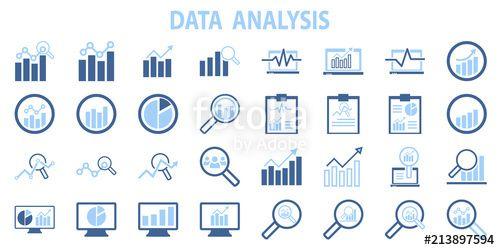 Analysis Chart Data Growth Increase Line Seo Icon Vector
