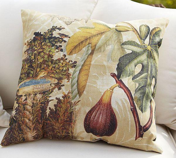 Mediterranean Fruit Decopage Outdoor Pillows...Lovely