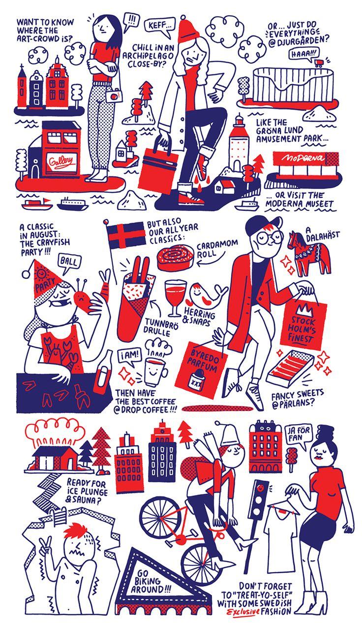 CITIx60 City Guide — Stockholm (illustrations) on Behance