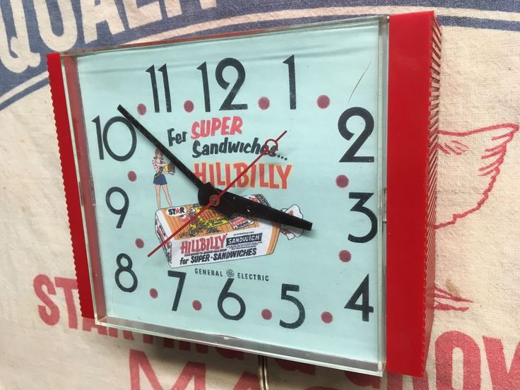 Vintage HILLBILLY Bread General Electric Clock Grocery Store General Store Sign in Collectibles, Advertising, Merchandise & Memorabilia, Clocks   eBay