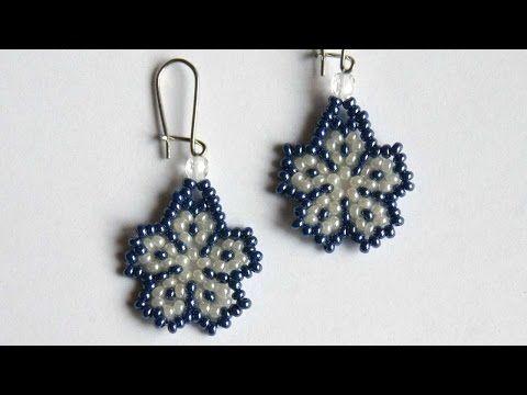 Cute Flower Earrings ~ Seed Bead Tutorials