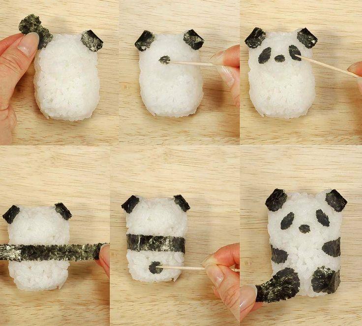 Amazon.com: CuteZCute Fun Rice Mold Onigiri Shaper and Dry Roasted Seaweed Cutter Set, Baby Panda: Kitchen & Dining