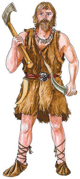 Barbár (germán) harcos. Az egykori Római Birodalom területére különböző barbár népek törzsei költöztek be