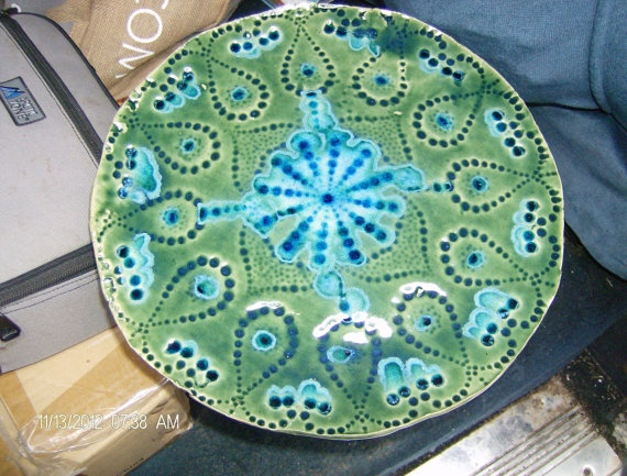 Green and Blue Decorative Plate & 24 best decorative plates images on Pinterest | Decorative plates ...