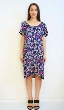 DALSTON Silk Folklore Dress Chinoiserie Fawn Hunter Palm Print Size Au 16 US 12