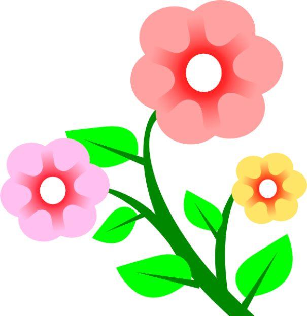 Gambar  Bunga  Kartun  Warna Pink di 2020
