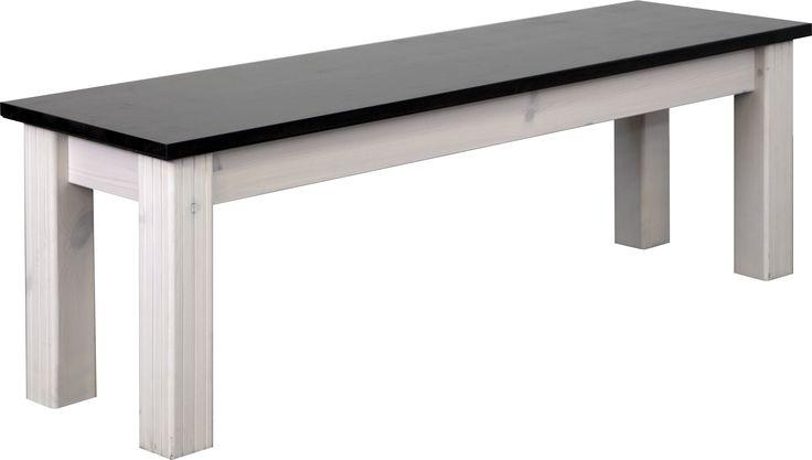 Sitzbank Rafael Kiefer Massivholz Weiß 5947 Buy now at https - landhausmöbel weiss wohnzimmer