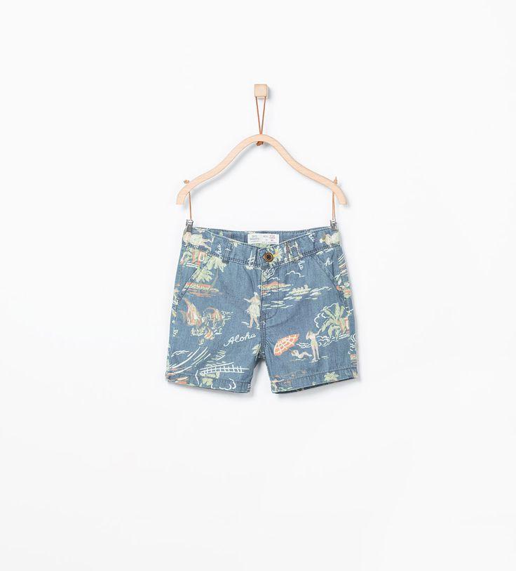 ZARA - KIDS - Aloha printed Bermuda shorts
