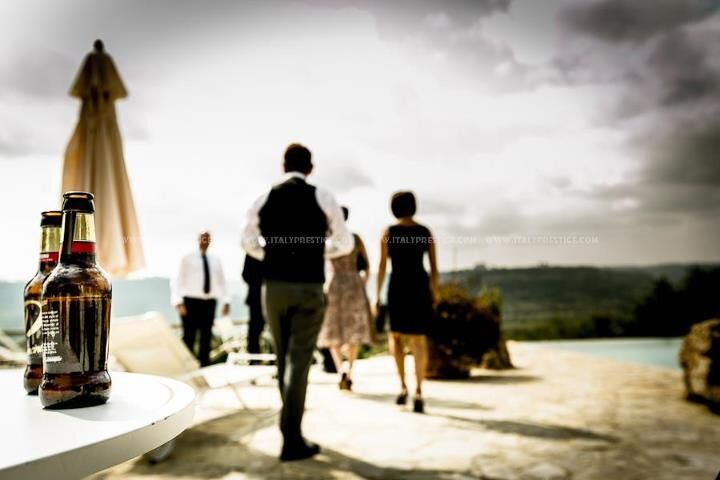 Twitter / italyprestige: Groom waiting with a Peroni #wedding #italy www.italyprestige.com