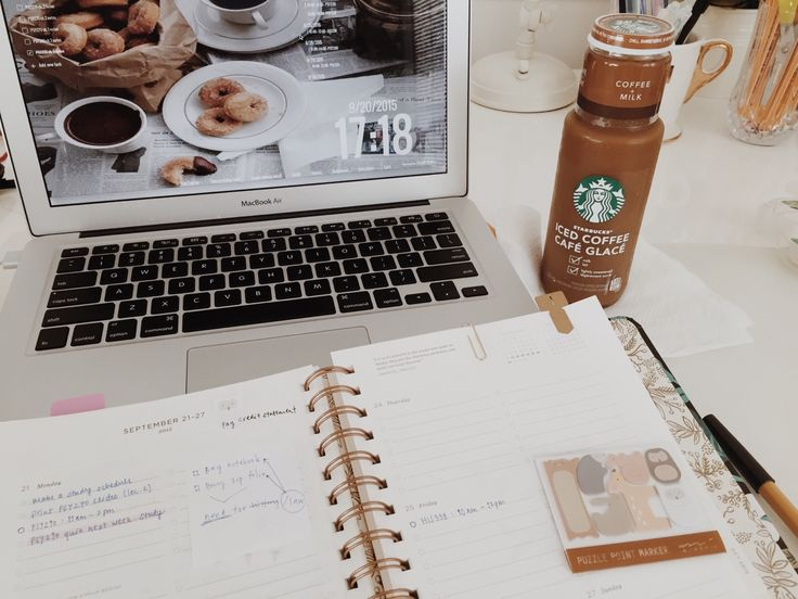 bellestudy:  20/9/15 • Planning out my week and having a late afternoon coffee. Got quite a lot done this weekend, hoping this next week will be as productive ☕️
