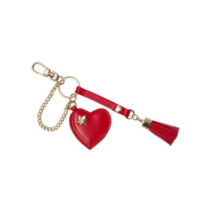 Give your look some love with our Heart and Tassel Charm. It features a small genuine leather heart and tassel accented by a stunning gold tone chain and hardwa