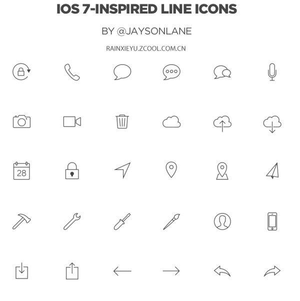 ios7图标-设计稿-PSD