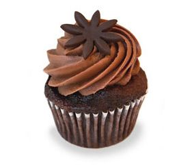 Peanut Butter Milk Chocolate Ganache.  A chocolate cupcake with a creamy smooth peanut butter and milk chocolate ganache frosting. #karascupcakes