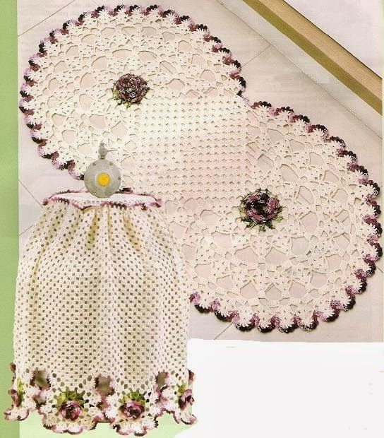 As Receitas de Crochê: Jogo de cozinha de crochê                                                                                                                                                      Mais