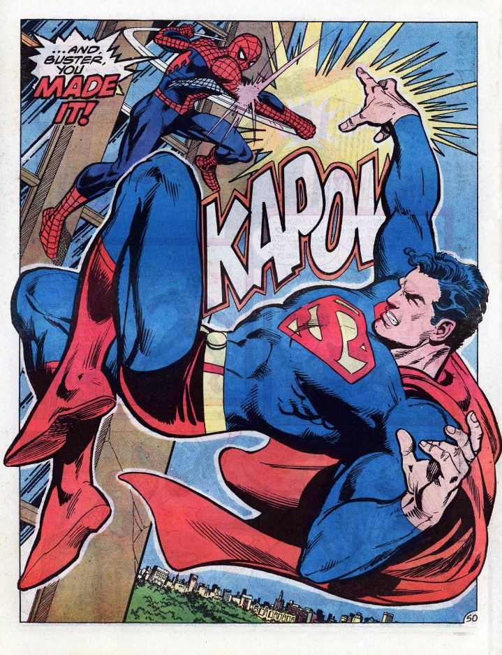 Superman vs Spider-Man. The first company cross-over event. Written by Gerry Conway, art by Ross Andru.