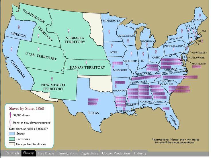 Interactive Maps ~ Civil War Years