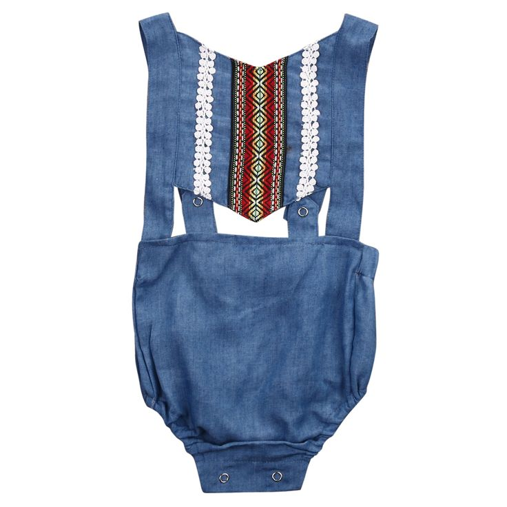 Cute Newborn Toddler Infant Baby Girl Sleeveless Denim Romper Jumpsuit Backless Outfit Sunsuit Clothes