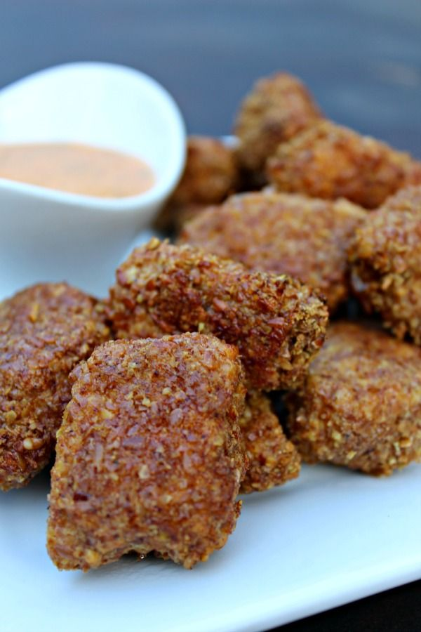 Grain Free Chicken Dippers with Buffalo Ranch Dipping Sauce | Primally Inspired