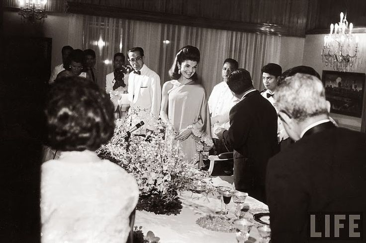 vintage everyday: Jackie Kennedy being entertained by Prince Norodon Sihanouk and his wife. November 1967