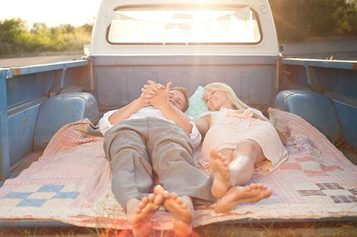 southern. The old truck bed becomes a bench on the tail gate, and a bed for a lazy afternoon nap