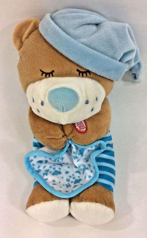 Spark Create Imagine Praying Teddy Bear Blue Blanket Plush Stuffed
