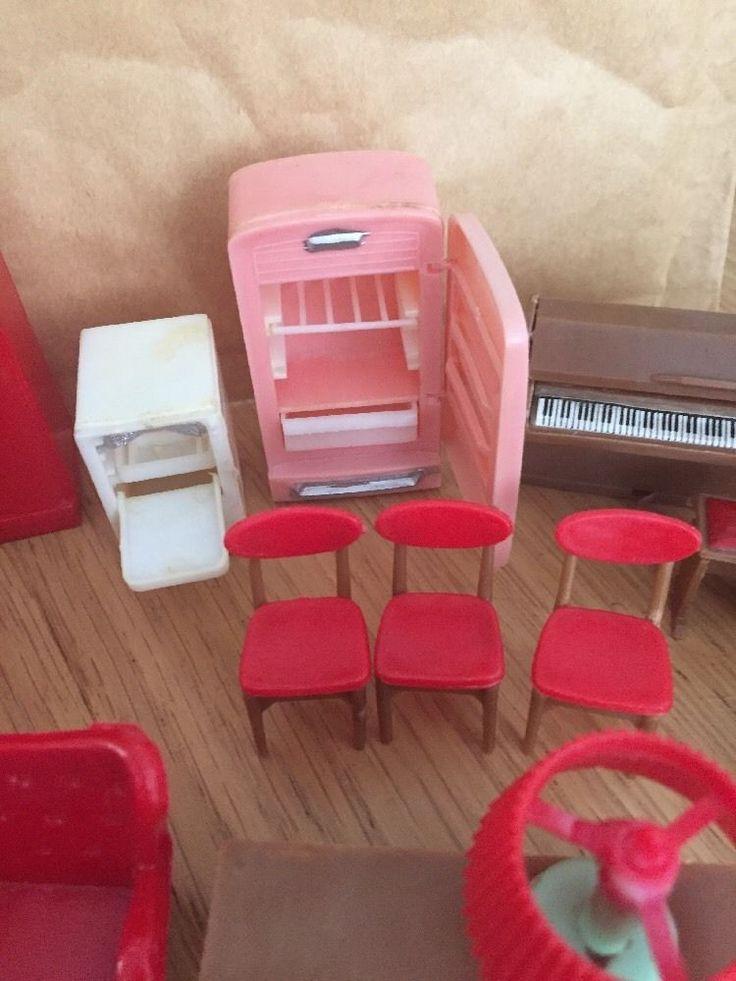 Vintage Blue Box Dolls House Furniture