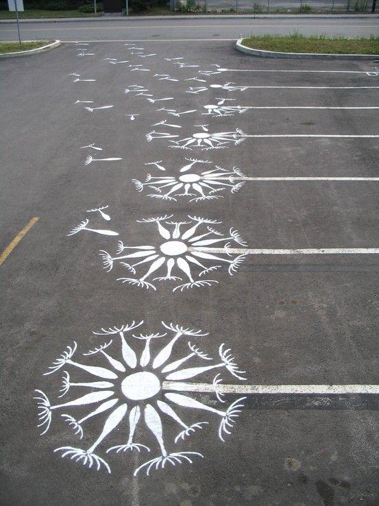 Improved parking lot.
