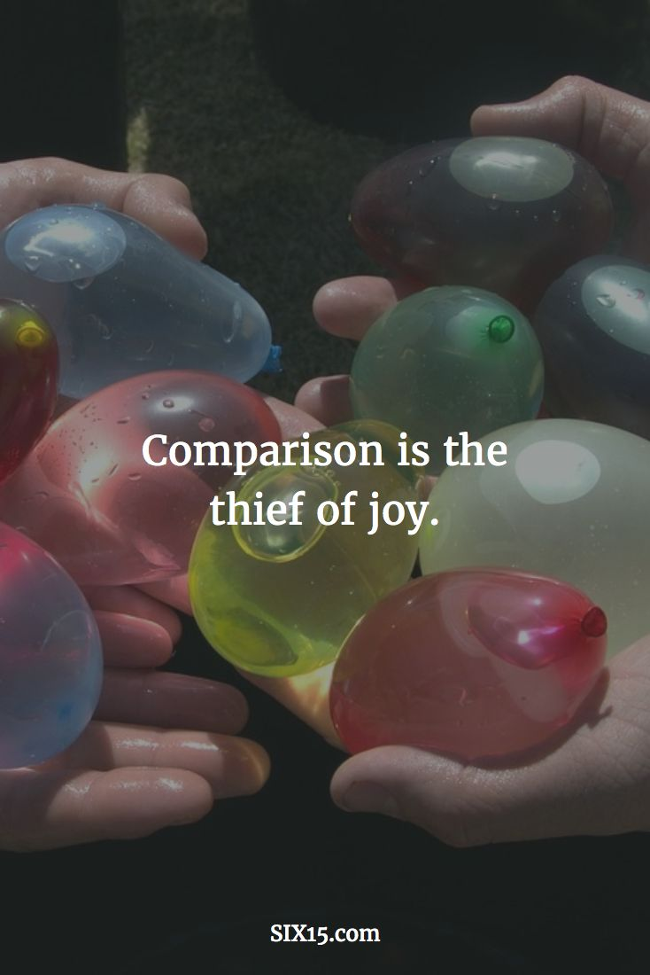 Don't compare yourself with another. God didn't make you to be a copy of someone else. Be yourself. We all are unique in our own ways. Make your own happiness and do more of what makes you happy. You don't have care what anyone else thinks or has.